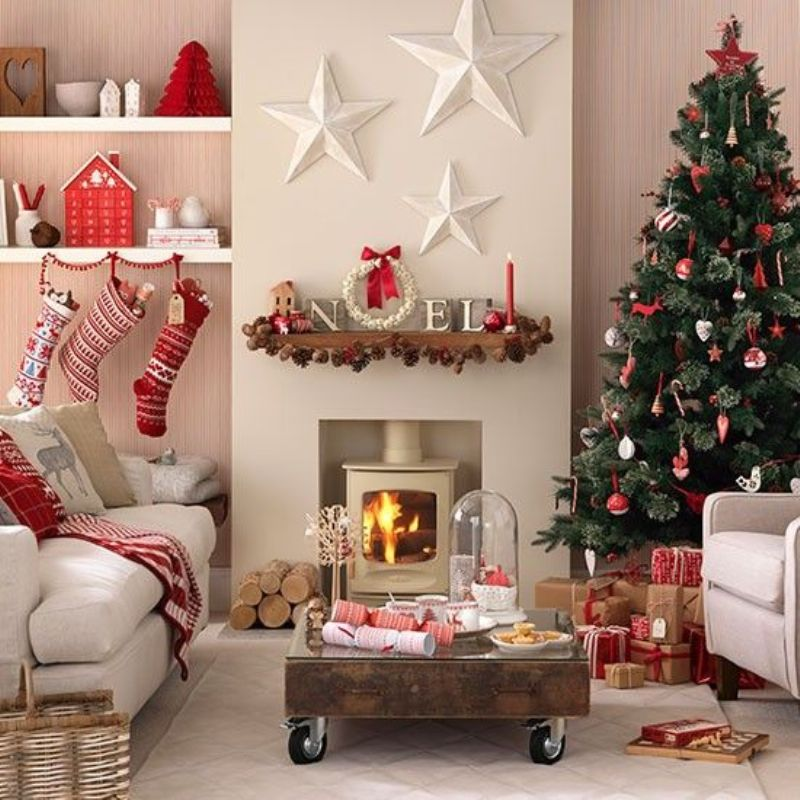 Scandi-style-red-and-white-Christmas-living-room