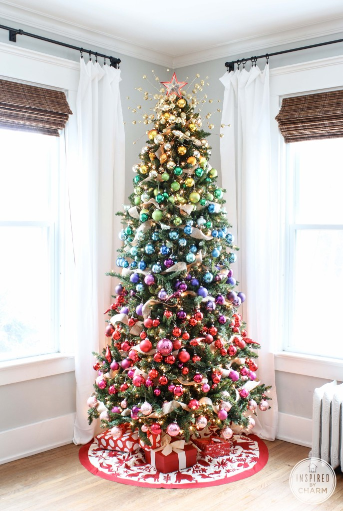 colourful artificial Christmas-tree