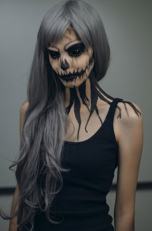 scary halloween costumes and makeup