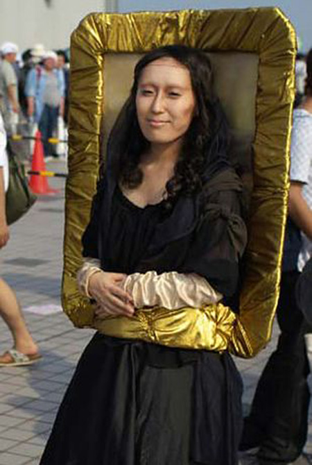 cool halloween costume mona lisa