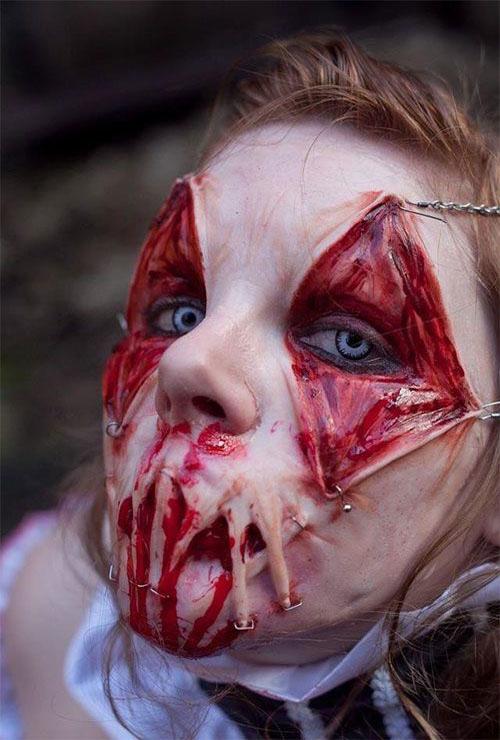disgusting halloween makeup