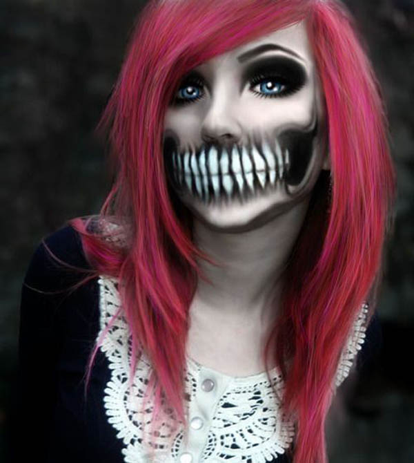 35 Disgusting and Scary Halloween Makeup Ideas on - Make Up De Halloween