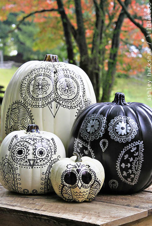 33 cool no carve pumpkin decorating ideas to try this halloween 2016 easyday. Black Bedroom Furniture Sets. Home Design Ideas