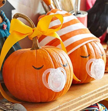 33 cool no carve pumpkin decorating ideas to try this for A pumpkin decoration