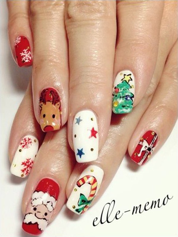 Christmas Symbols Nail Art