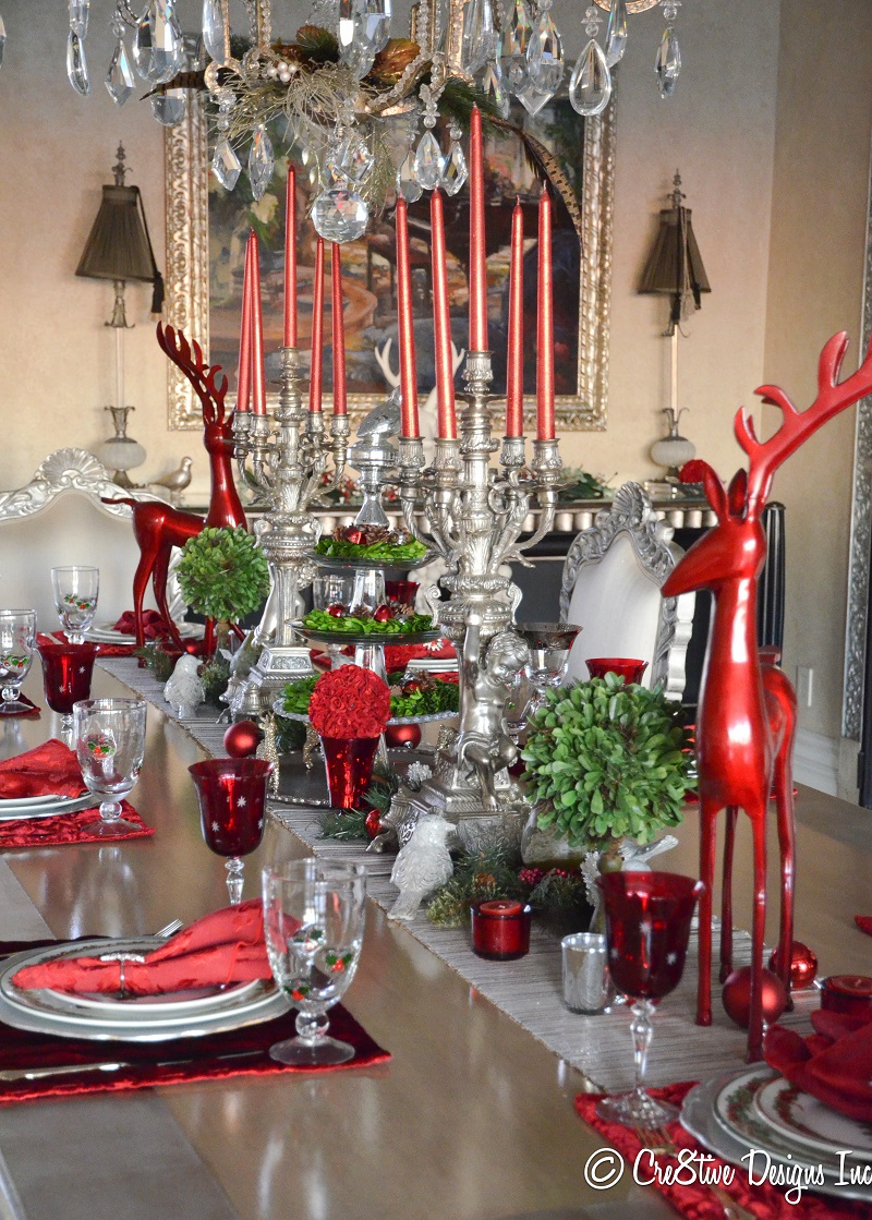 40 christmas table decors ideas to inspire your pinterest for Christmas dining room table decorations