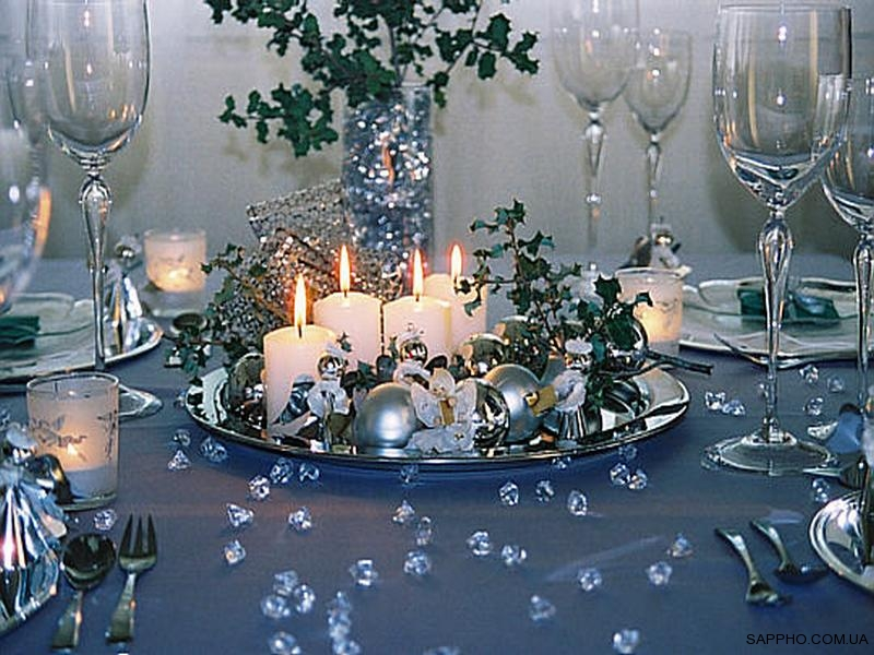 Silver Table Decorations