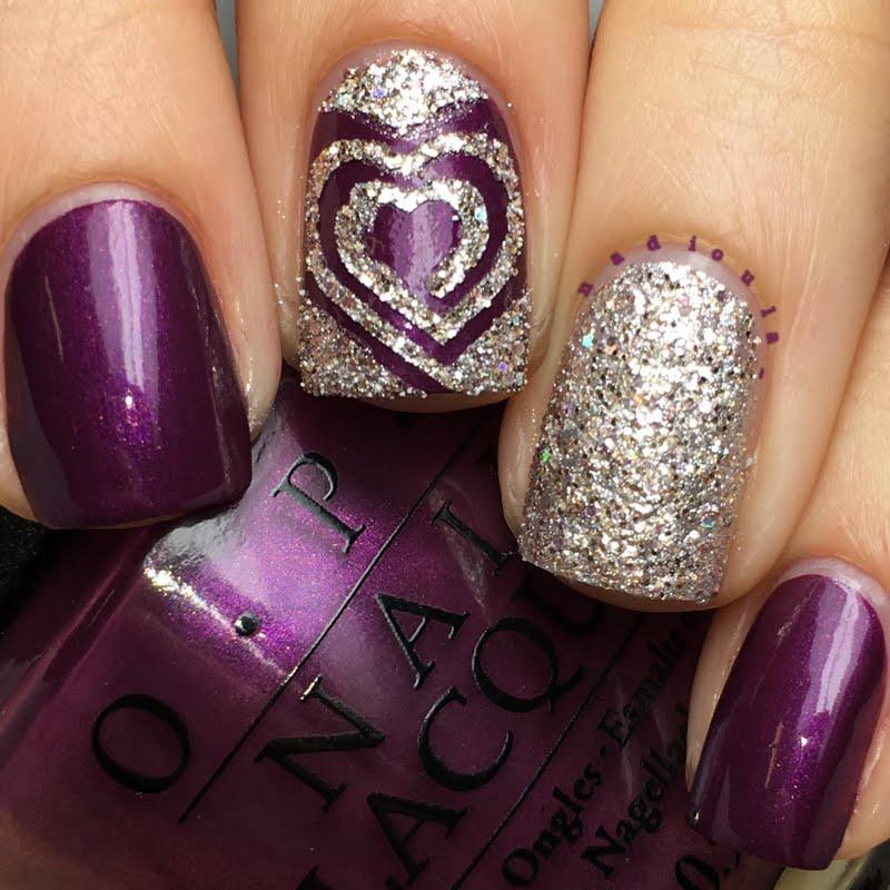 Awesome-Purple-Nails-with-Glitter-2