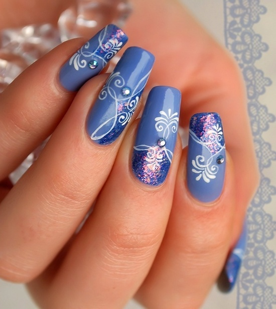 Pretty blue nails  sapphire blue gel  Yelp