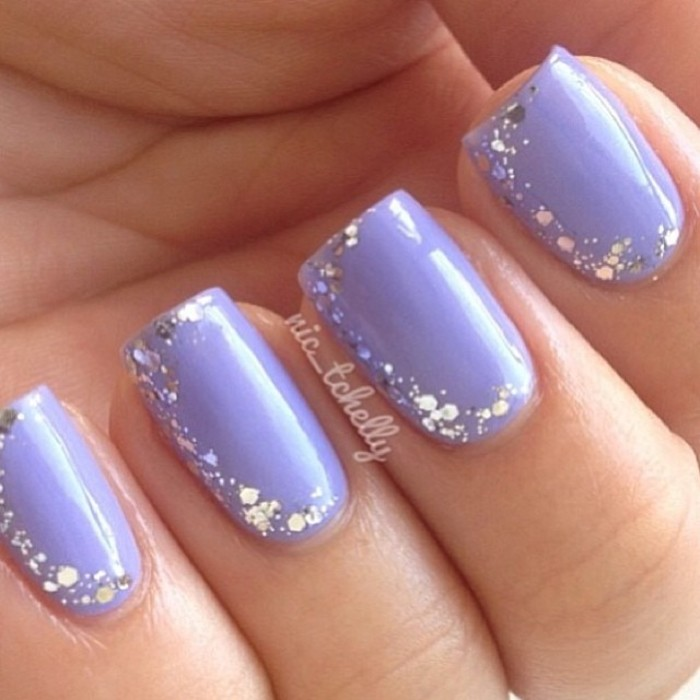 Blue Silver Nail Design 10 Easyday