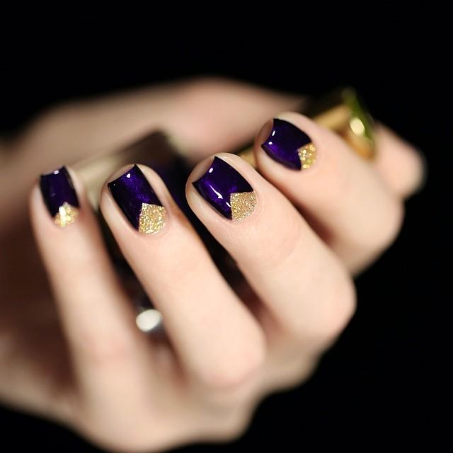 cute-purple-nail-designs