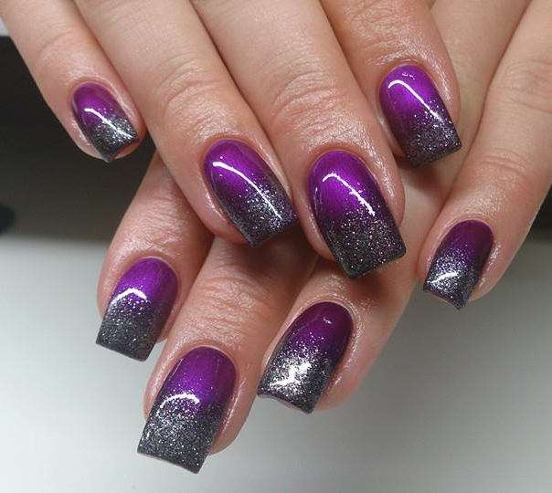 Silver and Purple Nail Designs - Trendy Purple Nail Art Designs - Easyday