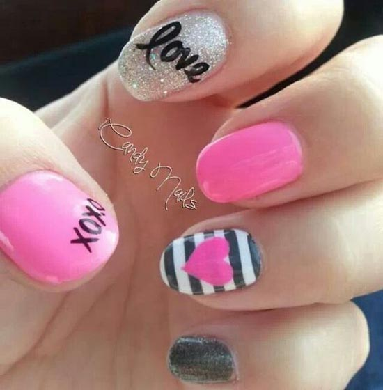 Simply Romantic and Sweet Nail Arts for Valentines Day - Easyday