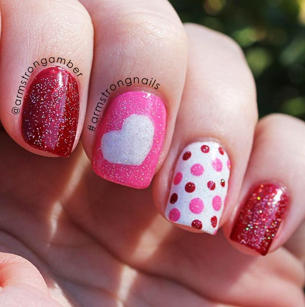 Nail Art Valentines: Simply Romantic And Sweet Nail Arts For Valentines Day