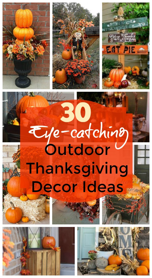 Outdoor Thanksgiving Decorating Ideas