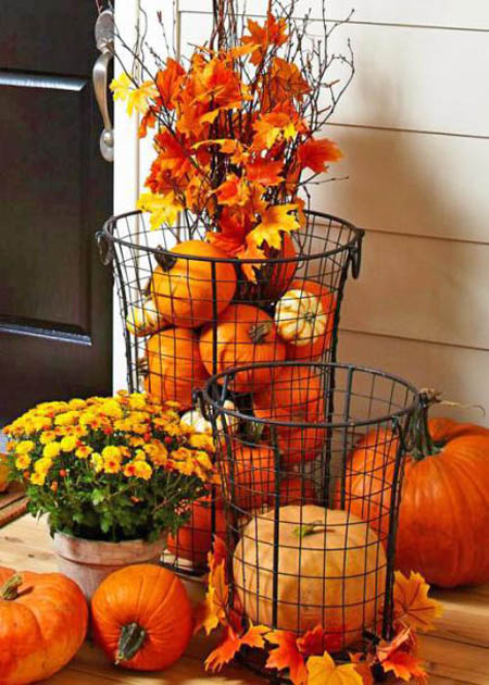 30 Fall Porch Decorating Ideas Top 10 Pro Decorating Tips: 30 Eye-Catching Outdoor Thanksgiving Decorations Ideas