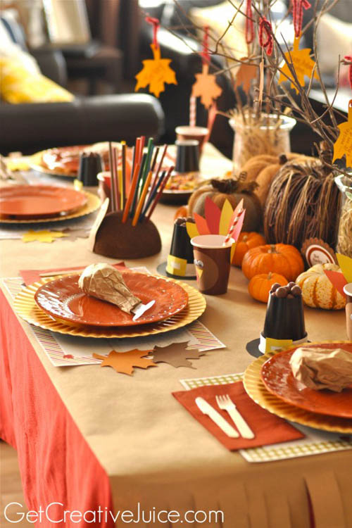 31 stylish thanksgiving table decor ideas easyday Thanksgiving table decorations homemade