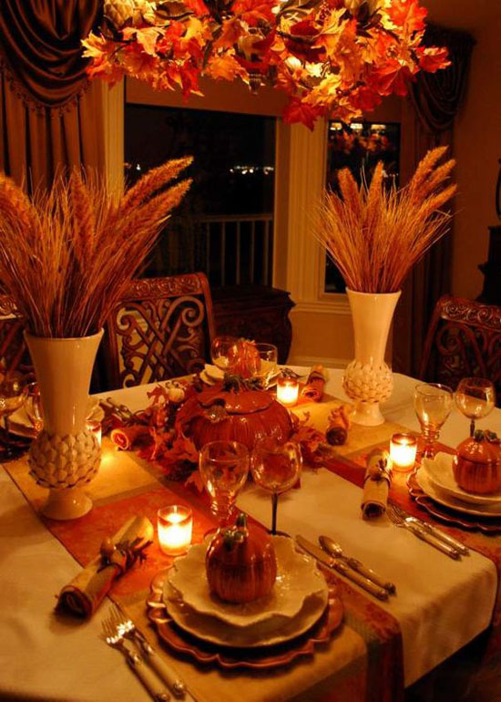 Thanksgiving table decorating ideas 31 easyday for Table setting design