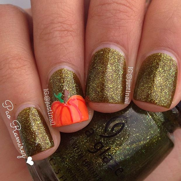 Gel Nail Designs Thanksgiving