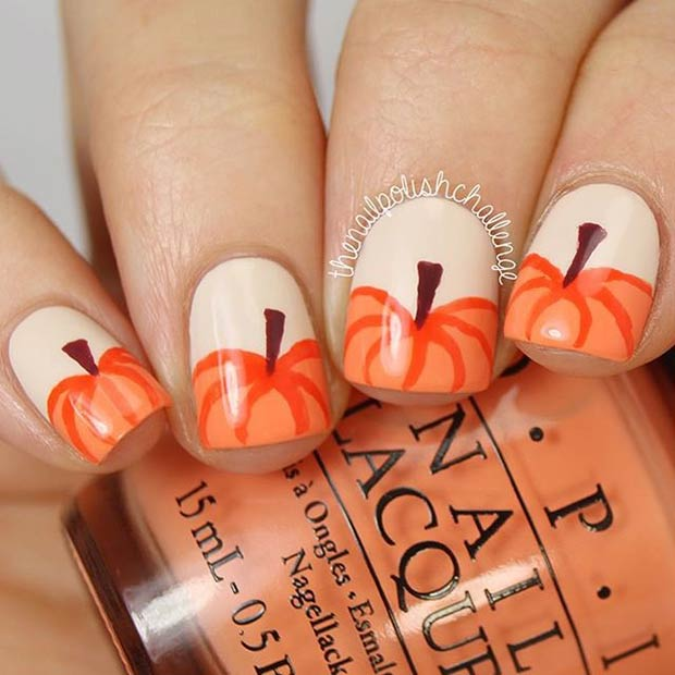Simple Fall Nail Designs: Fall Nail Art Design Ideas
