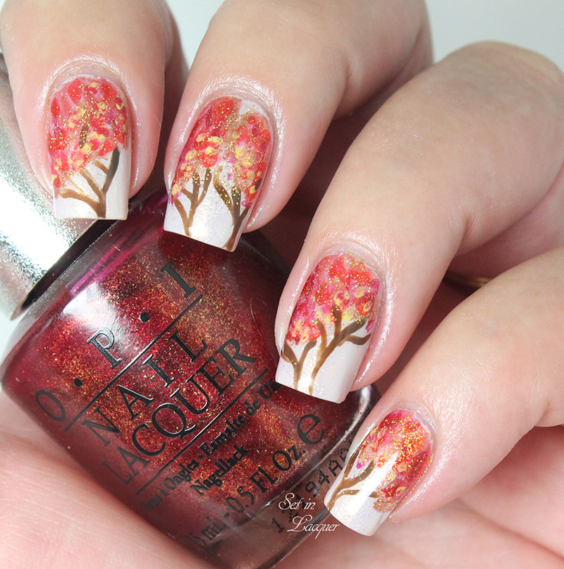 Fall Leaves Nails Design