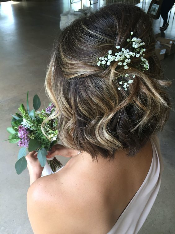 wedding hairstyle for short hair 1