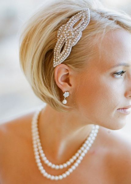 wedding hairstyle for short hair 12