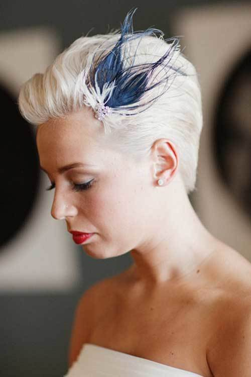 wedding hairstyle for short hair 13