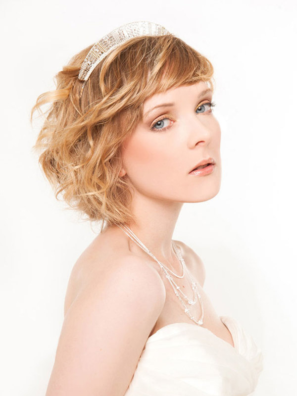 wedding hairstyle for short hair 15