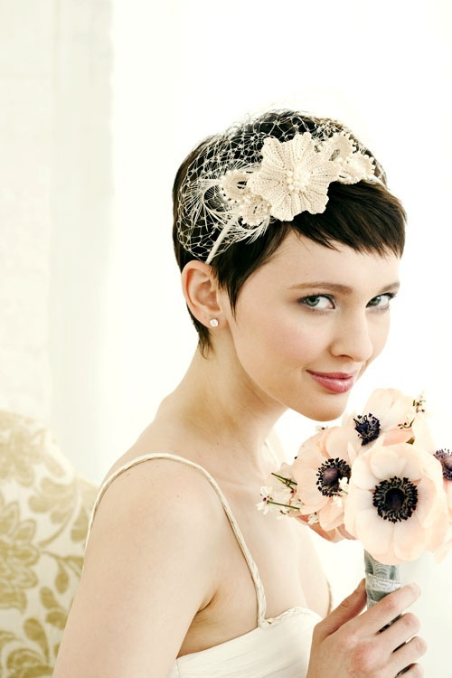 wedding hairstyle for short hair 16