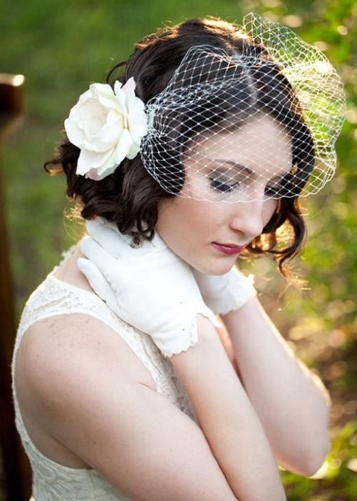wedding hairstyle for short hair 17