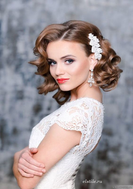 wedding hairstyle for short hair 19
