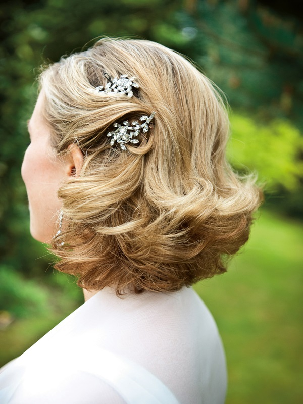 wedding hairstyle for short hair 23