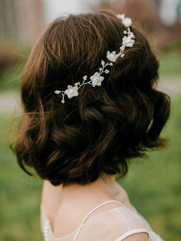 wedding hairstyle for short hair 26