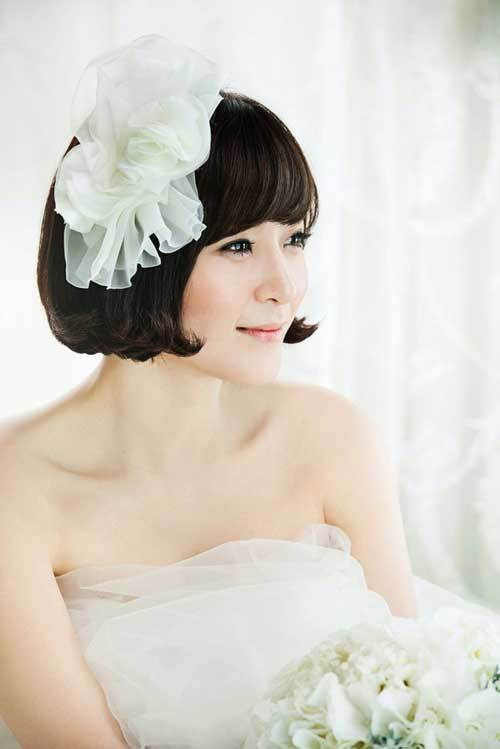 wedding hairstyle for short hair 3