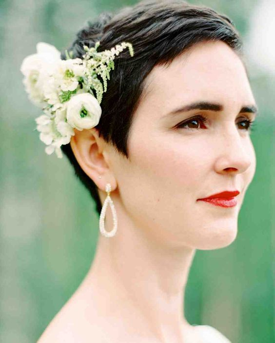 wedding hairstyle for short hair 30