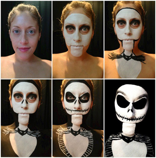 Halloween Make Up Skelet.Skeleton Halloween Makeup Tutorial Easyday