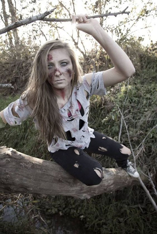 Cool Zombie Halloween Costume and Makeup Ideas