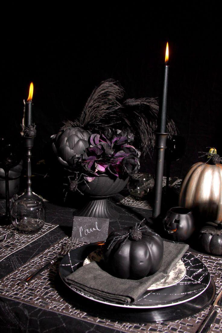 Spooky Halloween Table Decoration Ideas 14